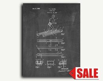 Patent Art - Water Skis Patent Wall Art Print