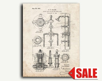 Patent Art - Mixing Valve for Tub and Shower Baths Patent Wall Art Print
