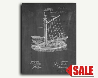 Patent Print - Reefing Sails Patent Wall Art Poster