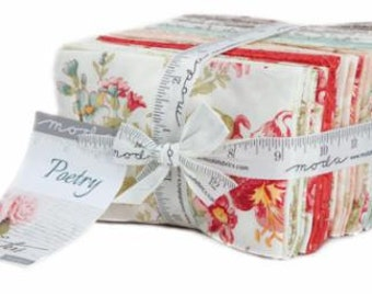 Poetry Prints Fat Eighth Bundle by 3 Sisters for Moda Fabrics. Moda 44130F8