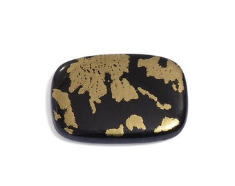 Black Goldenite Quartz Cushion Cabochon Loose Gemstone 1A Quality 14x10mm TGW 4.00 cts.