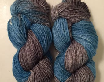 Hand Dyed Yarn Aran weight Worsted weight 100% superwash merino wool | 100 gr  | Super Soft  | Mockingjay | Free shipping in the US