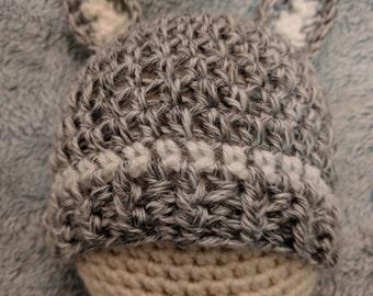 Woodland Friends Squirrel Crochet Hat
