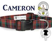 Cameron (of Erracht) Tartan Dog Collar