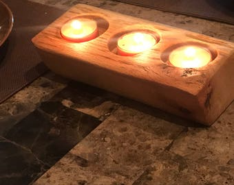 Tea Light wooden candle holder