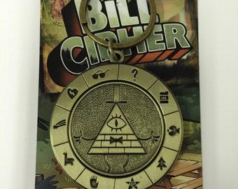Bill Cipher Antique Keychain