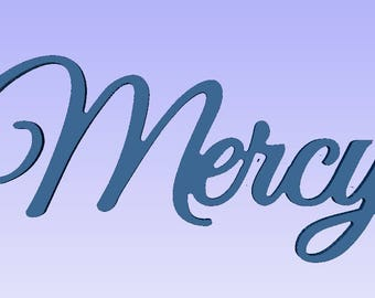 Religious words,Mercy sign words,Mercy wood cutout, Mercy wood plaque,shabby chic sign, antiqued sign, aged sign,Mercy cutout sign