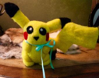 Needle-Felted Pokemon Pikachu