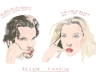"Before sunrise film - 18'' x 24"" giclée print - limited edition"