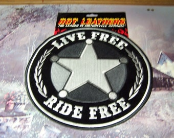 """Motorcycle Jacket Vest Patch """"Sheriff""""   9 x 9"""""""