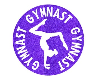 Gymnast Circle Iron On Decal