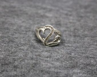 Sterling Silver Vintage Heart Shape Ring