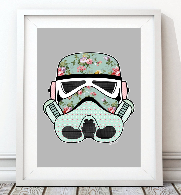Vintage Stormtrooper Star Wars poster art Star Wars print