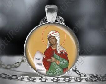 St. Susanna Catholic Necklace Christian Medal Pendant Patron Saint Religious Jewelry