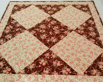 Table Topper Square Table - Patchwork Tablecloth - Square Tablecloth - Quilted Table Topper - Quilted Table Decor - Shabby Chic - Item #351