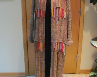 Handwoven custom coat by Kathleen Weir West
