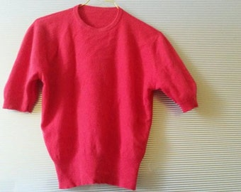 1950s Cashmere Pullover Strawberry Red