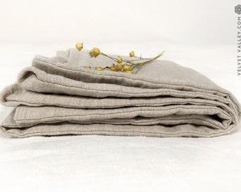 Linen beige pillow sham-  softened linen pillows-standard, queen, king sizes- natural flax softened linen pillow