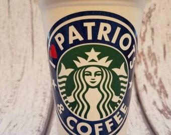 New England Patriots, Patriots, Starbucks Patriots, Starbucks cup,