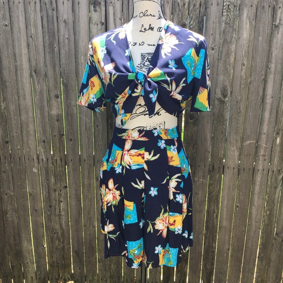 1940's Vintage Reproduction Two Piece Playsuit