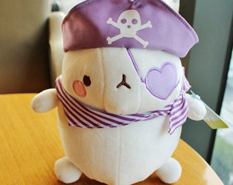 "Molang 9"" Pirate PURPLE Plush Soft Doll Cushion Cute Anime Room Decor Bedding Toy"