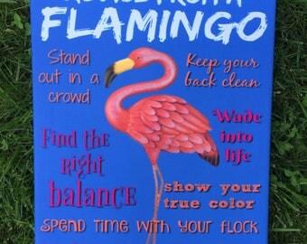 Canvas Flamingo Advice Art