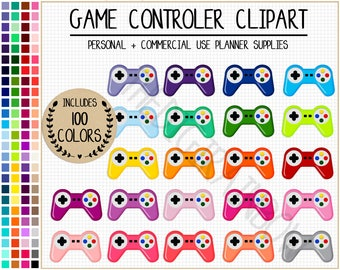 SALE 100 GAME CONTROLLER clipart rainbow video games clipart printable video games planner stickers party clipart gaming stickers game night