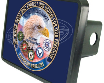 American Military Warrior Trailer Hitch Cover