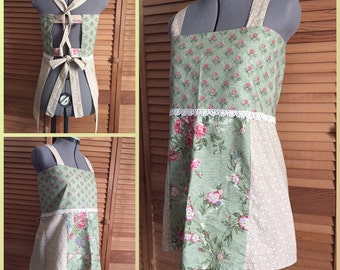 Reserved for Kris Classic Hippie Apron Top Patchwork Festival Country