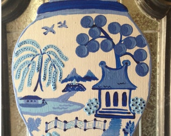 Ginger Jar Door Hanger or Wall Art