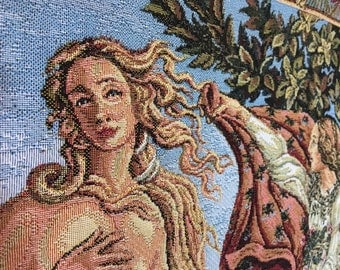 """Botticelli's """"Birth of Venus"""" in clamshell tapestry"""