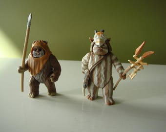 Vintage Star Wars - Ewoks -Wicket and Logray - Power of the Force 1998