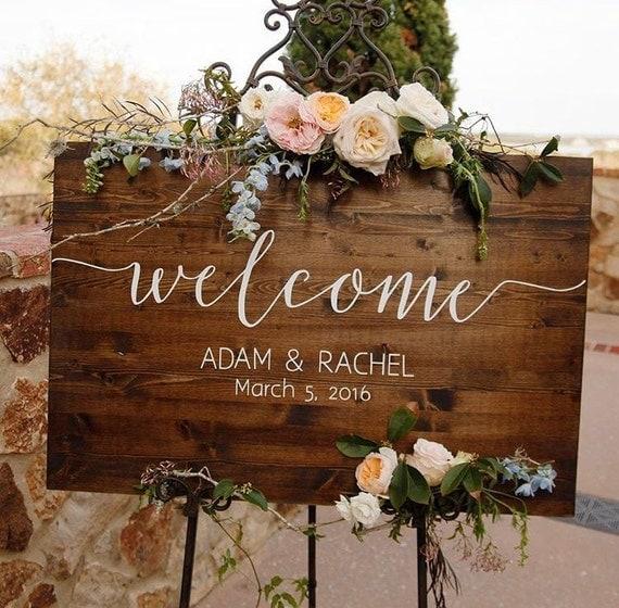 Etsy Wedding Signs: Wedding Welcome Sign Rustic Wood Wedding Sign Sophia