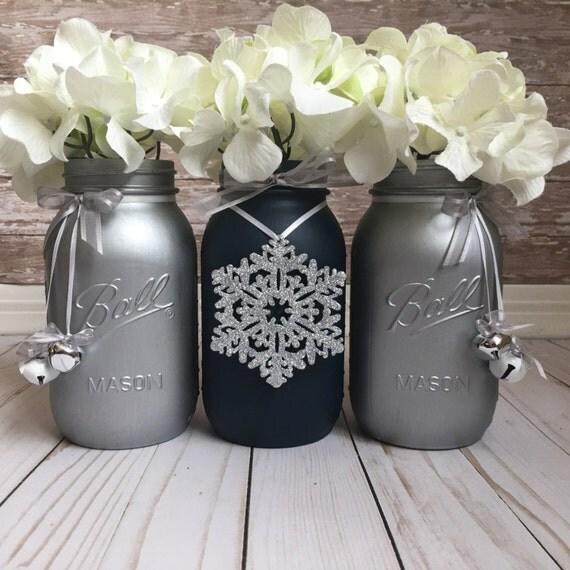 Christmas Painted Mason Jars Christmas Home Decor Holiday