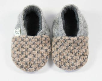 Hipster Baby Clothes- Toddler Slippers- Boho Baby Clothes- Gender Neutral Outfit- Modern Baby- Trendy Baby Clothes