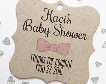 Baby Shower Tags, Sweet Baby Shower Kraft Favor Tags, Baby Shower Hang Tags  (FS-088-KR)
