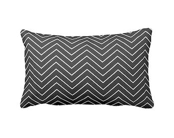 Black Pillow Cover Black Chevron Pillow Black Lumbar Pillows Decorative Pillows for Sofa Pillows Monochrome Decor Monochrome Nursery Pillow
