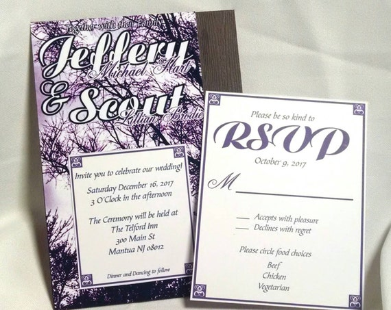 Outdoor Wedding Invitation Wording: Outdoor Weddings Rustic Wedding Invitation Nature Wedding