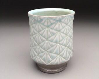 Hand Carved Porcelain Tumbler