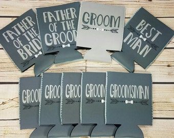 groomsman gift wedding party can coolers / custom wedding party gifts / groomsmen gift idea / usher gifts / best man gifts / groom gift