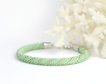 Mint bracelet for her Birthday gift for girlfriend elegant jewelry for womens gift for sister summer outdoors Mint green jewelry for girl