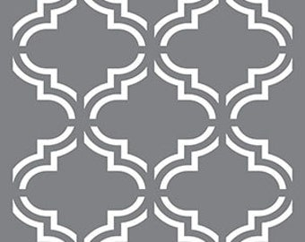 "18"" x 18"", Americana Decor Stencils, Moroccan Tile, Reusable Stencil"