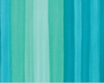 SPECTRUM Ombre Stripes in Turquoise by V and Co for Moda