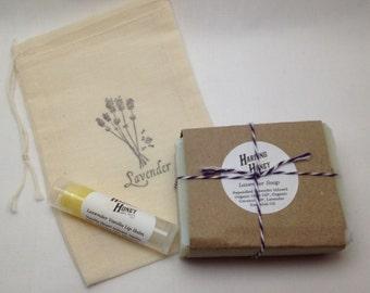 Lavender Gift Set - Soap & Lip Balm