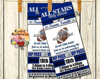 Printable Baby shower football  invitation/ ticket