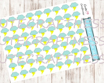 Weather stickers thunder perfect for your planner