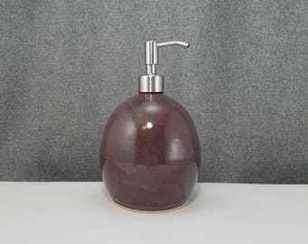 IN STOCK** Ceramic Soap Dispenser Handmade Pottery Lotion Dispenser Pottery for Kitchen and Bath - Plum Run