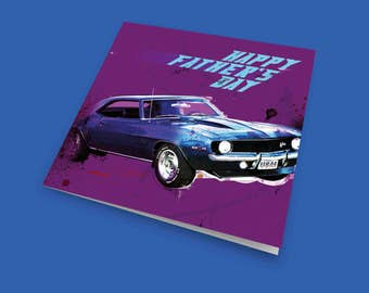The Camaro Z28, Father's Day Card, Card For Dad, Card For Husband, Dad Card, Husband Card