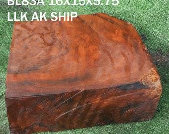 bl83  wood turning block, bowl turning block,curly redwood, craft, carving woods
