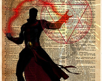 Doctor Strange, Superhero print, superhero decor, kids room art, nerdy art